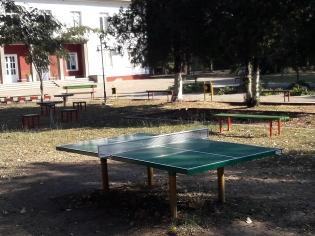 и млади и стари играят на тенис на маса в Селановци