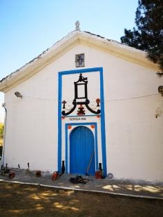 Освежената фасада на храма.